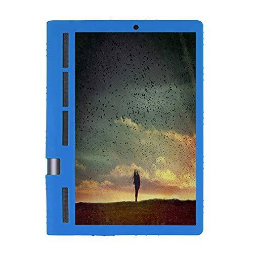 Hzjundasi Funda Silicona para Lenovo Yoga Tab 3 Pro 10.1' - Ligero Case Funda Protectora de Silicón con Estar para Lenovo Yoga Tab 3 Pro 10.1 Inch YT3-X90F M L/Plus 10.1 Inch YT-X703F,Dark Azul