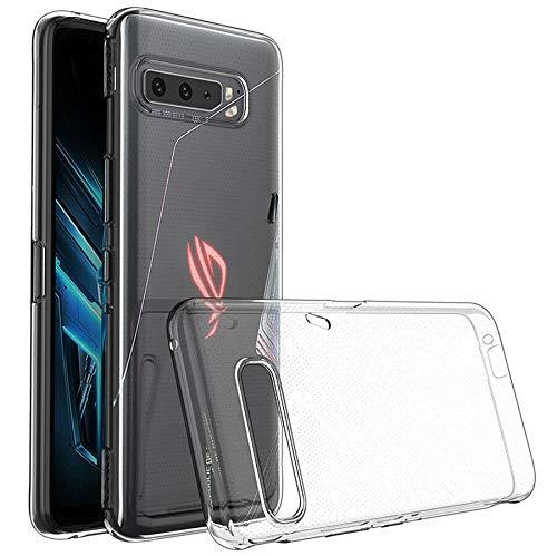 Suncase Transparent Silikon Hülle kompatibel mit Asus ROG Phone 3 ZS661KS Hülle - Stoßfest Klar Flexibel Durchsichtige TPU Tasche Handyhülle Schutzhülle