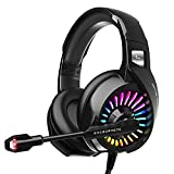 ZIUMIER Gaming Headset with Microphone, Compatible with PS4 PS5 Xbox One PC...
