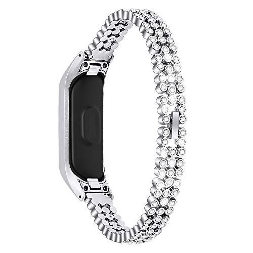 Jennyfly Damen-Armband für Fit E(R375), modisches Mädchen-Armband aus Edelstahl, verstellbar, 14 - 20,3 cm, kompatibel mit Samsung Galaxy Fit-E SM-R375, Silber