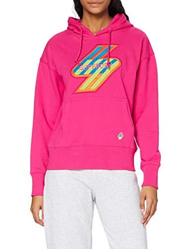 Superdry Womens Sportstyle NRG Hood Hooded Sweatshirt, Hot Pink, 6