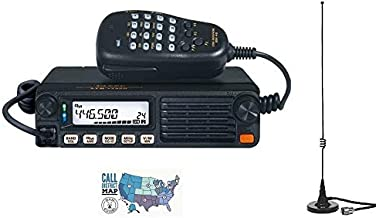 Radio and Accessory Bundle - 3 Items - Includes Yaesu FTM-7250DR 50W Dual Band C4FM/FM Mobile Radio, Comet M-24M Dual Band Mag-Mount Antenna and Ham Guides TM Quick Reference Card