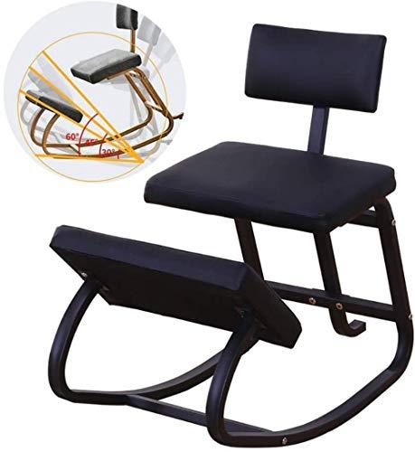 Corrección de la Postura sentada Alivio de la Fatiga Columpio/Home Office Silla de Oficina Silla Mecedora de Aprendizaje/Sillón (Color : Black)