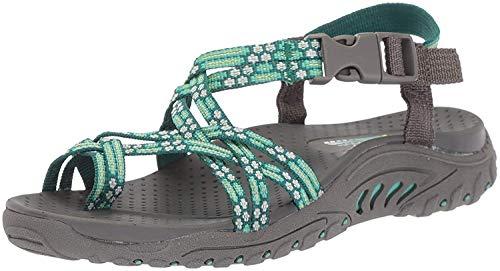 Skechers Cali Women's Reggae Loopy Toe Ring Sandal, mint, 9 M US