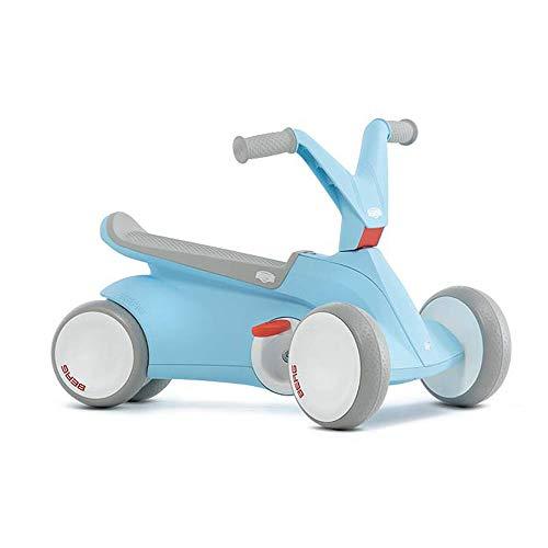 Berg 24.50.00.00 GO² 2in1 Rutschauto | Rutscher und Laufrad, Kinderrutscher, Kinderauto mit Ausklappbare Pedale, Pedal-Gokart, Kinderspielzeug geeignet für Kinder im Alter von 44499 Monaten (Blau)