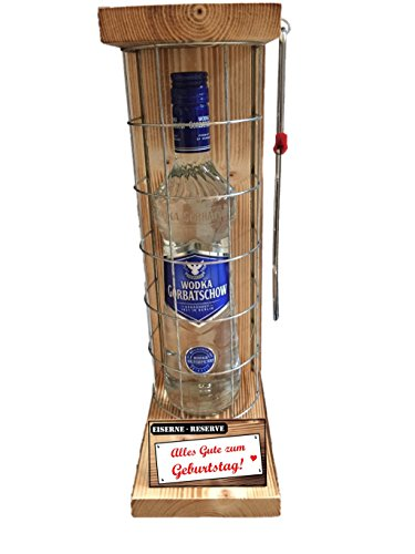Genial-Anders Vodka Geschenk - Alles Gute zum Geburtstag - Die Eiserne Reserve - Das lustige Geschenk, Geburtstagsgeschenk - Männergeschenk - Frauengeschenk