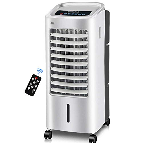 TJZY Air Conditioning Fan, Home Mobile Radiator, with Remote Control, Can Be Timed 8 Hours, 80W / Gray