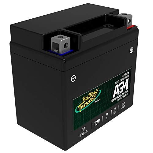 Battery Tender AGM Motorcycle Battery: Absorbent Glass Mat Battery for Motorcycles, ATVs, UTVs and More - High Performance 12V 5aH 100 CCA Powersports Engine Start Battery - BTX5L-FA