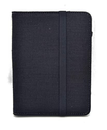 """Funda para Libro electrónico eReader eBook de 6 Pulgadas - Woxter, Tagus, BQ, Energy, SPC, Sony, Inves, Papyre, Wolder, Nolim - 6"""" Universal - Lino Natural (6"""", Negro)"""