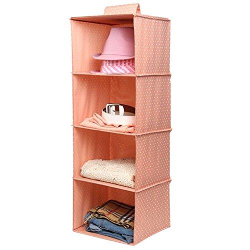 Sacs de rangement Xuan - Worth Another Dark Pink White Point Wardrobe pour vêtements de Rangement Garde-Robe sous-vêtements Coffre à tiroir Multicouches Boîte de Rangement en Tissu