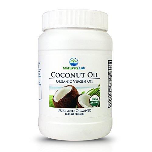 Organic Virgin Coconut Oil - 16oz (30+ Servings) Cholesterol Free Cooking Oil Non GMO, USDA Certified Organic Edible, Topical Medium Smoke Point