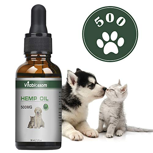 Vitablossom Hemp Pure Oil for Dogs, Cats and Pets, 100% Natural Omega...