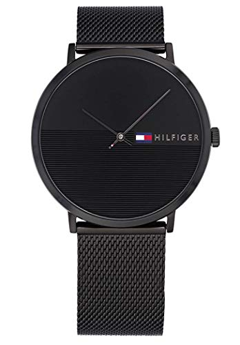 Tommy Hilfiger Unisex Analog Quarz Uhr mit Edelstahl Armband 1791464
