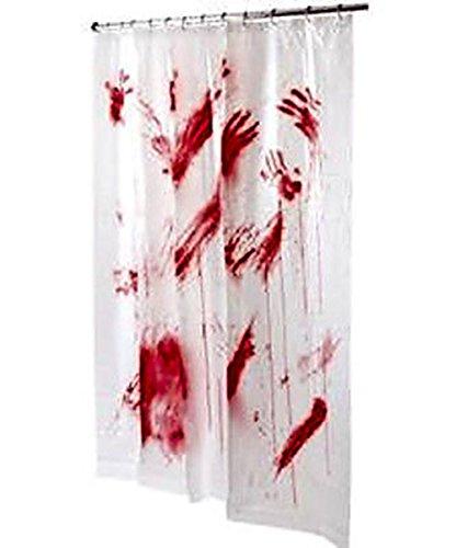 Duschvorhang mit blutigem Design für Halloween, 178 x 183 cm