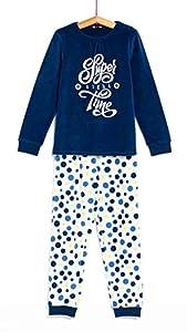 TEX - Pijama Largo para Niña, 2 Piezas, Azul Oscuro, 15 a 16 años