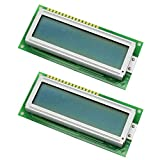 2 pantallas LCD de 16 x 2 Amplio AC162B Rev. A comp. Hitachi HD44780 Arduino Raspberry PIC