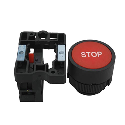 1 NC Momentary Push Button Switch 660V 10A SPST,1 Year Warranty HB2-BA-RG Green 1 NO mxuteuk 2pcs 22mm Red