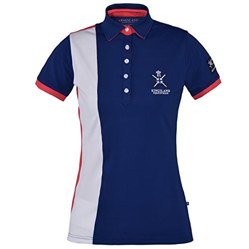 Kingsland Waverly Poloshirt für Damen, für Reiten, allgemeine Zwecke, Blau - Blue Depths, 16