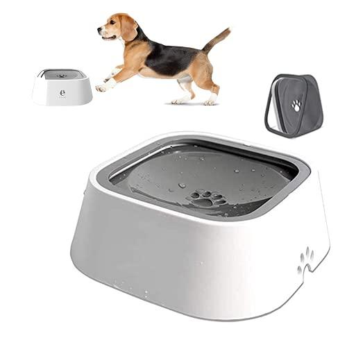 SaponinTree Cuenco de Agua para Perro, Anti Salpicaduras Recipiente Antideslizante Alimentador de Agua Bebedero, Bebedero Perro Tazón de Bebida Agua Flotante para Perro Gato Mascotas