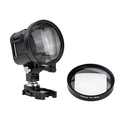 58mm professionele onderwaterfotografie Close-Up Macro Filter Lens 10X Magnificatoin High Definition Lens voor GoPro HERO5 sessie, HERO4 Session en Hero Session