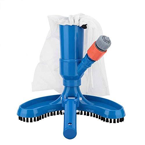 CXZC - Aspiradora de suelo de piscina, venturi tubo, manguera de jardín, cepillo de aspiración + bolsa de recogida