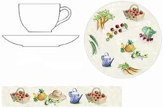 MAISON A VIVRE Tasse et sous-tasse à déjeuner 'potager' (lot de 4)