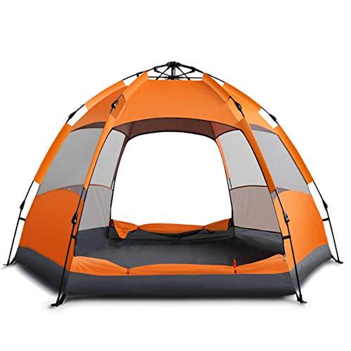 Linabind Tente de campement automatique pour 3 à 4 personnes Double couche UV Orange