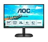AOC 24B2XHM2 Monitor LED da 23.8' VA Panel, Full HD, 4 ms, Refresh 75Hz, VGA, HDMI, Senza Bordi, Low...