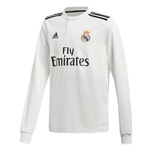 adidas 18/19 Real Madrid Home Longsleeve Camiseta de Manga Larga, Niños, Multicolor (blabas/Negro), 140