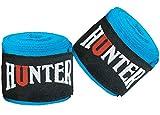 HUNTER Elastic Professional Ultra 180 inch Hand Wraps for Men, Women - Handwraps for Boxing Kickboxing Muay Thai MMA &BJJ Hand Wrist Support 4.5 Meter (Aqua Blue, 4.5 Meter)