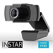 INSTAR Hochwertige USB Webcam IN-W1, Full-HD Web cam, Webcam mit Mikrofon, eingebautes Mikrofon, PC-Kamera, Plug&Play, Windows/MacOS/Linux, ideal für Zoom, Skype, FaceTime und andere Programme