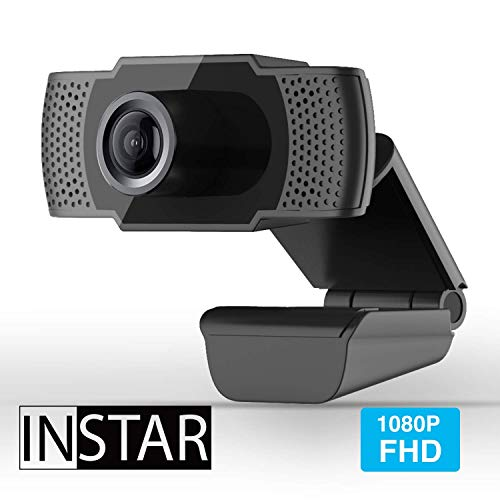 INSTAR Hochwertige USB Webcam IN-W1, Full-HD Web cam, Webcam mit Mikrofon, eingebautes Mikrofon, PC-Kamera, Plug&Play, Windows/MacOS/Linux, ideal für Zoom, Skype, FaceTime und andere Programme