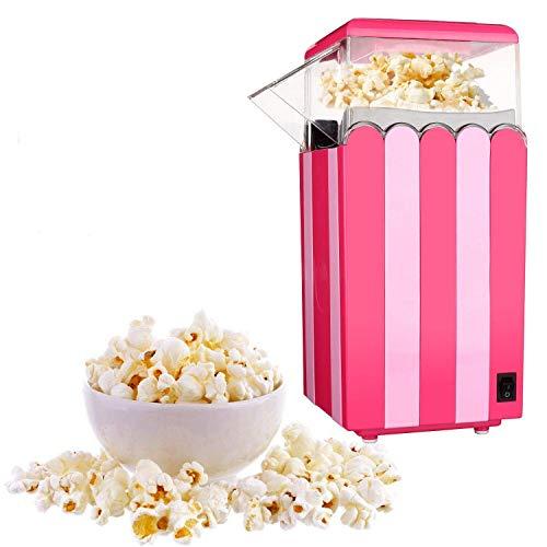 Popcorn Maker,Hot Air Popper Popcorn Maker Machine Healthy Popping Corn Kernels Machine,Free Oil,Makes12Cups