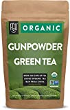 Organic Gunpowder Green Loose Leaf Tea | Brew 200 Cups | 16oz/453g Resealable Kraft Bag | by FGO