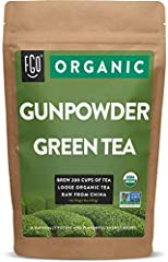 ORGANIC GUNPOWDER GREEN TEA - 16oz/453g Resealable Bag (1 Pound) SMILE SIP & FEEL GOOD - Brew 200 cups of tea with this premium loose leaf variety! LOOSE LEAF TEA - Our loose, organic tea allows you to customize each cup according to your sipping pre...