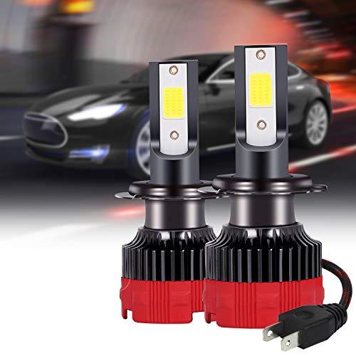 sanlinkee Lampadina H7 LED, 12000LM Auto Fari Conversione Kit Sostituzione per Alogena Lampade e Xenon Luci Fari Abbaglianti o Anabbaglianti per Auto Kit, 60W 6000K Bianco, 2 Pezzi