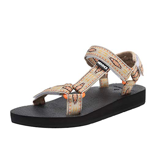Women's Original Sandals Sport Sandals with Yoga Mat Insole Hiking Sandals Light Weight Shoes U619SLX022-beige-40