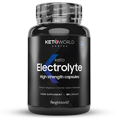 Keto Electrolytes Tablets - 180 Tablets (6 Month Supply) - Gluten Free Keto Diet Pills, Magnesium Citrate, Calcium, Potassium Chloride, Sodium Chloride, Water Hydration Balance, Energy Tablets, Vegan