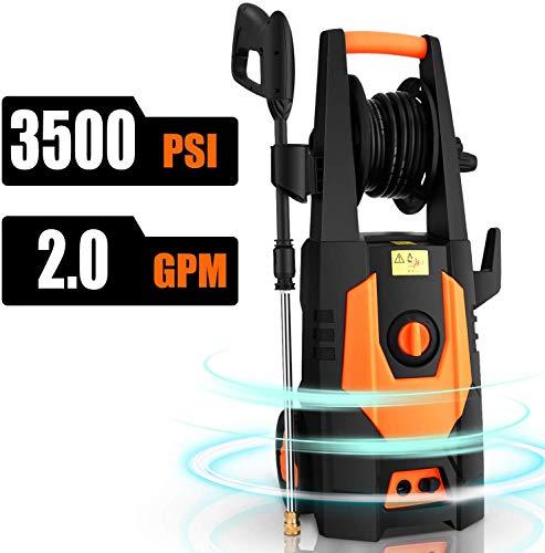 CHAKOR Electric Pressure Washer 3500 PSI, 2.0GPM Power Washer Machine, 1800W High Pressure Cleaner...