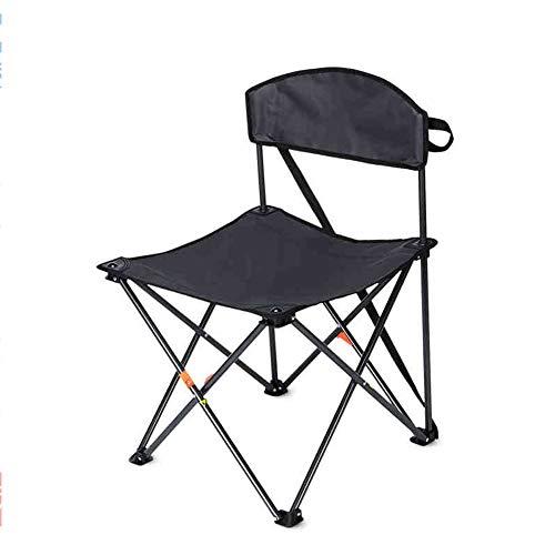 Silla plegable para playa o camping, ligera, portátil, para playa, festival, pesca, exteriores, viajes, asiento reclinable, pesca, camping, color negro