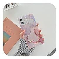 大理石のテクスチャストーンスクエアfor iPhoneケース用12Pro Max 11 Pro Max X XR XS Max 7 8 Plus SE 2020 SoftIMD裏表紙-909-for iPhone XR