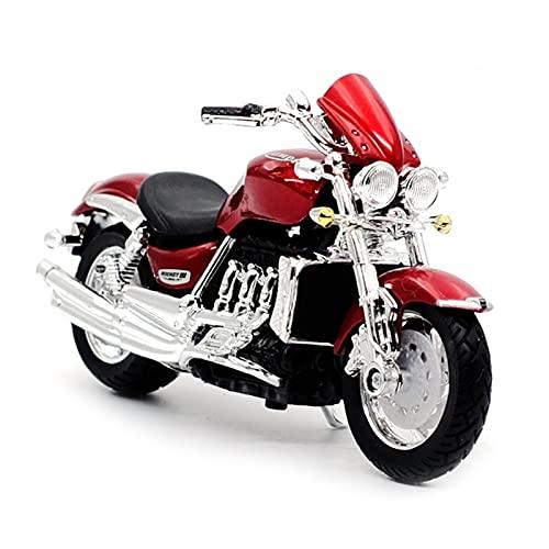 El Maquetas Coche Motocross Fantastico 1:18 para Triumph Rocket III Simulación De Aleación De Fundición A Presión Modelo De Motocicleta Colección Regalo Coche De Juguete Regalos Juegos Mas Vendidos