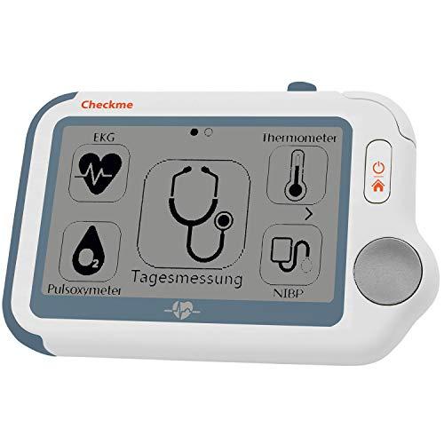 Pulox by Viatom Checkme Pro Tragbarer EKG Monitor mit Pulsoximeter, Thermometer Vitalcheck