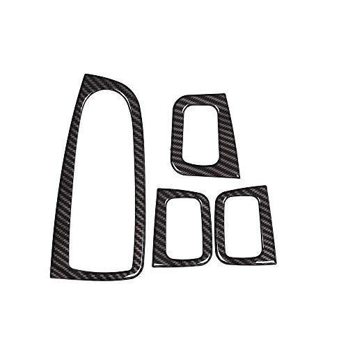 Accessoire intérieur pour Conduite à Gauche Classe C W205 GlC X253 2015-2018 Habillage Bouton relevable fenêtre Voiture Garniture Fibre Carbone Plastique ABS