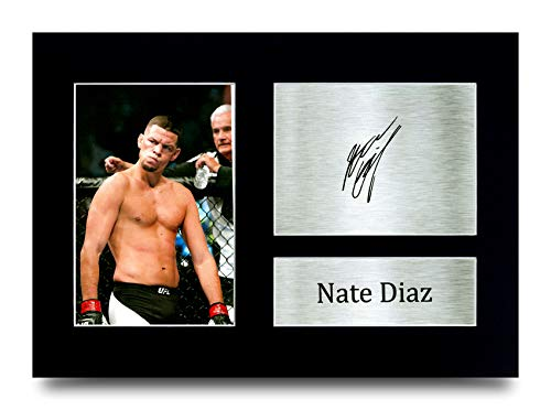 HWC Trading Nate Diaz MMA Gifts Printed Signed Autograph Picture for UFC Memorabilia Fans - A4