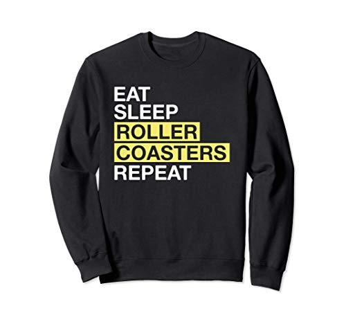 Theme Park Lover Gift Eat Sleep Roller Coasters Repeat Felpa