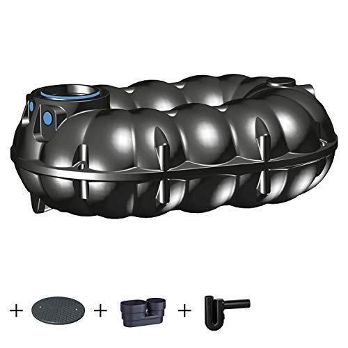 PREMIER TECH AQUA GmbH Zisterne 5000 Liter Regenwassertank NEO Standard mit Deckel, beruhigtem Zulauf und Siphon - Kunststoff, Kunststoffzisterne, Komplettset