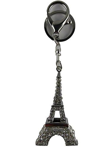 Schlüsselanhänger / Anhänger / Taschenanhänger weißfarben Eiffelturm Eifelturm Paris Urlaub 264