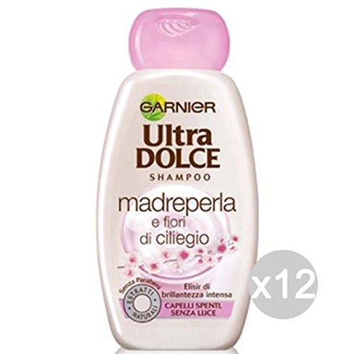 Set 12 GARNIER Ultra Dolce Shampoo Madreperla/Ciliegio Capelli Spenti Cura Dei Capelli