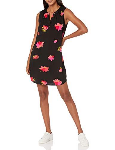 Amazon Essentials Sleeveless Woven Shift dresses, Blumenmuster in Rosa und Schwarz, M